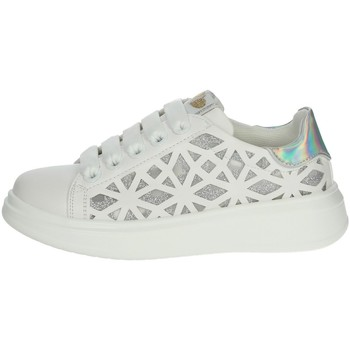 Chaussures Fille Baskets basses Asso AG-5407 Blanc/Argent