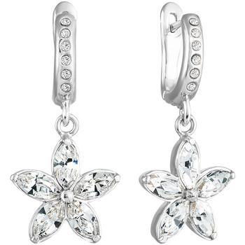 Montres & Bijoux Femme Boucles d'oreilles Mademoiselle Jolie Paris ESSENCE Fleur en Cristal Swarovski Blanc