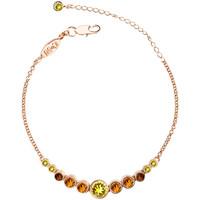 Montres & Bijoux Femme Bracelets Mademoiselle Jolie Paris RONDELLE bracelet en Plaque Or et Cristal Swarovski Sahara