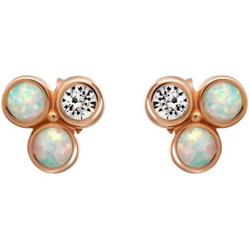 Montres & Bijoux Femme Boucles d'oreilles Mademoiselle Jolie Paris LA SEINE 3 pierres en Cristal Swarovski et Opal Opal Bleu
