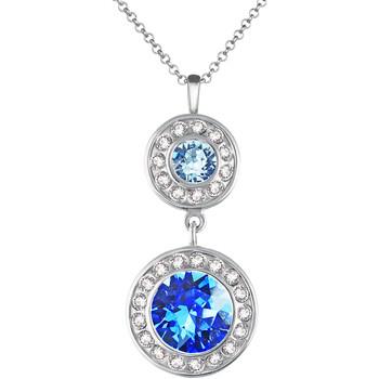 Montres & Bijoux Femme Pendentifs Mademoiselle Jolie Paris ISABELLE Rond en Cristal Bleu Saphir