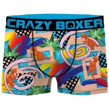 Sous-vêtements Homme Boxers Crazy Boxer DINO bleu