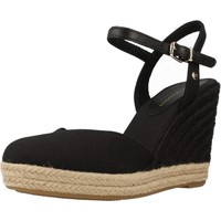 Chaussures Femme Espadrilles Tommy Hilfiger BASIC CLOSED TOE HIGH WE Noir