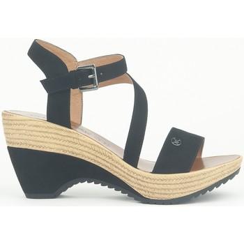 Chaussures Femme Sandales et Nu-pieds Chattawak Compensée 9-MAELLE Noir Noir