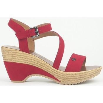 Chaussures Femme Sandales et Nu-pieds Chattawak Compensée 9-MAELLE ROUGE Rouge