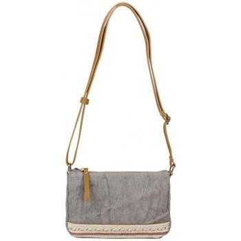 Sacs Femme Sacs Bandoulière Fuchsia Petit sac bandoulière bande toile délavée  Milli gris Multicolor