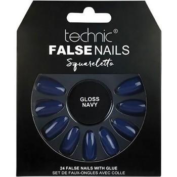 Beauté Femme Accessoires ongles Technic Faux ongles Squareletto   Gloss Navy Bleu