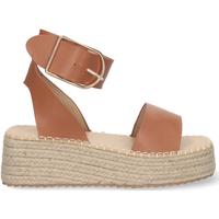 Chaussures Femme Espadrilles Buonarotti 1EC-0138 Camel
