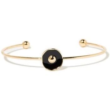 Montres & Bijoux Femme Bracelets Mes-Bijoux.fr Jonc Bohème doré et émail noir Doré