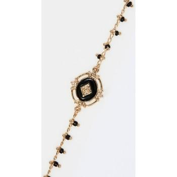 Montres & Bijoux Femme Bracelets Mes-Bijoux.fr Bracelet Bohème doré et émail noir Doré