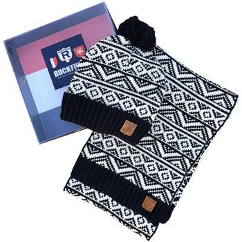 Accessoires textile Homme Echarpes / Etoles / Foulards Ruckfield Pack bonnet + écharpe bleu marine Gris