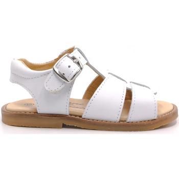 Chaussures Garçon Sandales et Nu-pieds Boni & Sidonie Sandales en cuir à boucles - MINI-ACHILLE Blanche