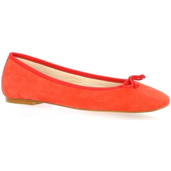 Chaussures Femme Ballerines / babies Exit Ballerines cuir velours  cail Corail