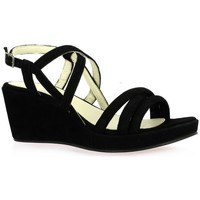 Chaussures Femme Sandales et Nu-pieds Exit Nu pieds cuir velours Noir