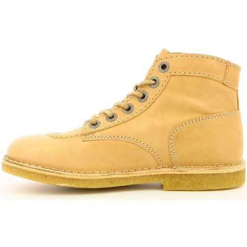 783631  Kickers  bottines  femme  beige