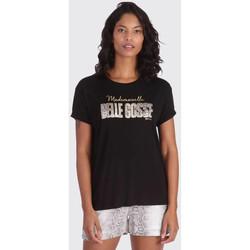 Vêtements Femme T-shirts manches courtes Kaporal REKIO BLACK Noir