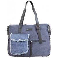 Sacs Femme Cabas / Sacs shopping Mac Alyster Sac cabas  toile délavée et jean Bleu Multicolor