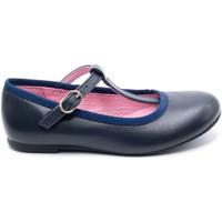 Chaussures Fille Ballerines / babies Boni & Sidonie Salome fille en cuir à boucles - AURORE Bleu Marine