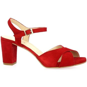 Chaussures Femme Sandales et Nu-pieds Brenda Zaro Nu pieds cuir velours rouge