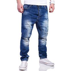 Vêtements Homme Jeans Monsieurmode Jean coupe sarouel homme Jean 6790 bleu Bleu