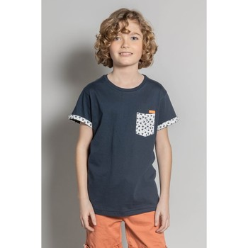 Vêtements Garçon T-shirts manches courtes Deeluxe T-Shirt BAHAMAS Night Blue