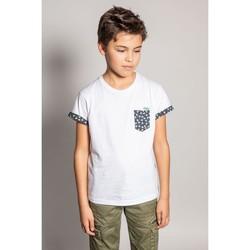 Vêtements Garçon T-shirts manches courtes Deeluxe T-Shirt BAHAMAS White