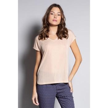 Vêtements Femme T-shirts manches courtes Deeluxe T-Shirt BELI Light Copper