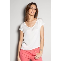 Vêtements Femme T-shirts manches courtes Deeluxe T-Shirt LILI Off White