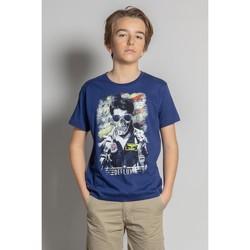 Vêtements Garçon T-shirts manches courtes Deeluxe T-Shirt MAVERICKER Cobalt