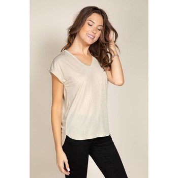 Vêtements Femme T-shirts manches courtes Deeluxe T-Shirt BELI Light Silver