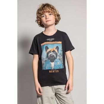 Vêtements Garçon T-shirts manches courtes Deeluxe T-Shirt BANDIDO Black