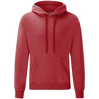 Vêtements Homme Sweats Fruit Of The Loom Hooded Rouge chiné