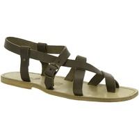 Chaussures Femme Sandales et Nu-pieds Gianluca - L'artigiano Del Cuoio 530 U FANGO CUOIO Fango