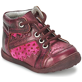 Chaussures Fille Boots Catimini CABILLAUD Rose / Marron