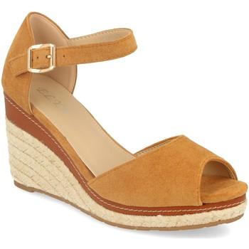 Chaussures Femme Sandales et Nu-pieds H&d EY-19 Camel