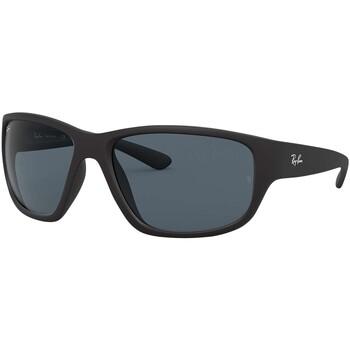 Montres & Bijoux Homme Lunettes de soleil Ray-ban Lunettes de soleil enveloppantes RB4300 noir