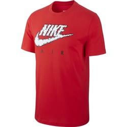 Vêtements Homme T-shirts manches courtes Nike - T-Shirt Air Illustration - CV0068 Rouge