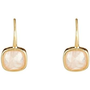Montres & Bijoux Femme Boucles d'oreilles Mes-Bijoux.fr Boucles d'oreilles laiton doré montées d'un qua Doré