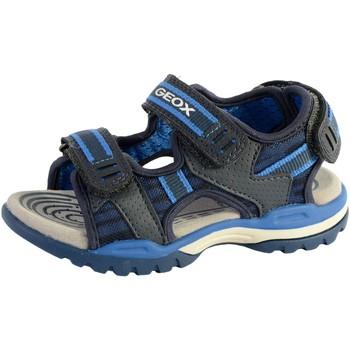 Chaussures Garçon Sandales et Nu-pieds Geox Sandales /Garçons J Borealis B. D -Mesh+Wax.Syn Navy/Royal