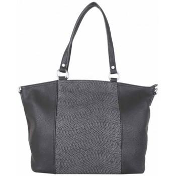 Sacs Femme Cabas / Sacs shopping Fuchsia Sac cabas trapèze  F1598 déco motif animal Noir Noir