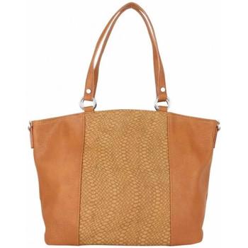 Sacs Femme Cabas / Sacs shopping Fuchsia Sac cabas trapèze  F1598 déco motif animal Camel Marron