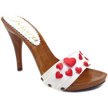Chaussures Femme Mules Kiara Shoes KM7101 Blanc
