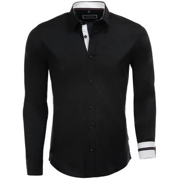 Vêtements Homme Chemises manches longues Carisma Chemise tendance homme Chemise 8441 noir Noir