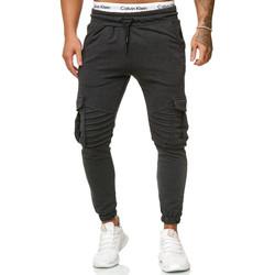 Vêtements Homme Pantalons de survêtement Cabin Pantalon jogging treillis Jogging R-1214 gris foncé Gris