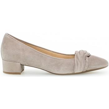 Chaussures Femme Escarpins Gabor Escarpin daim talon  block recouvert Beige