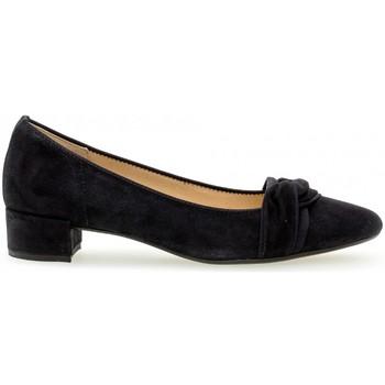 Chaussures Femme Escarpins Gabor Escarpin daim talon  block recouvert Bleu marine