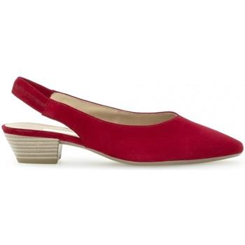 Chaussures Femme Escarpins Gabor Escarpin daim talon  block Rouge