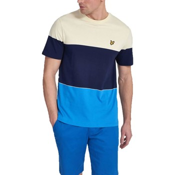 Vêtements Homme T-shirts manches courtes Lyle&scott LYLE&SCOTT WIDE MULTI STRIPE Multicolore