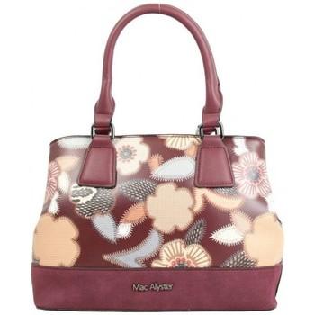 Sacs Femme Sacs porté main Mac Alyster Sac à main  Fragrance bordeaux motif fleur rouge