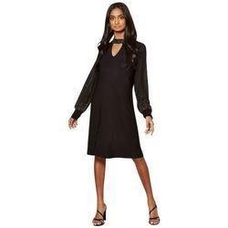 Vêtements Femme Robes courtes Anastasia - Robe doublée ornée de mousseline Black